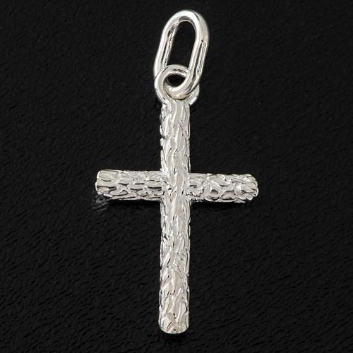 Croix décorée argent 925 h 2.5 cm 2