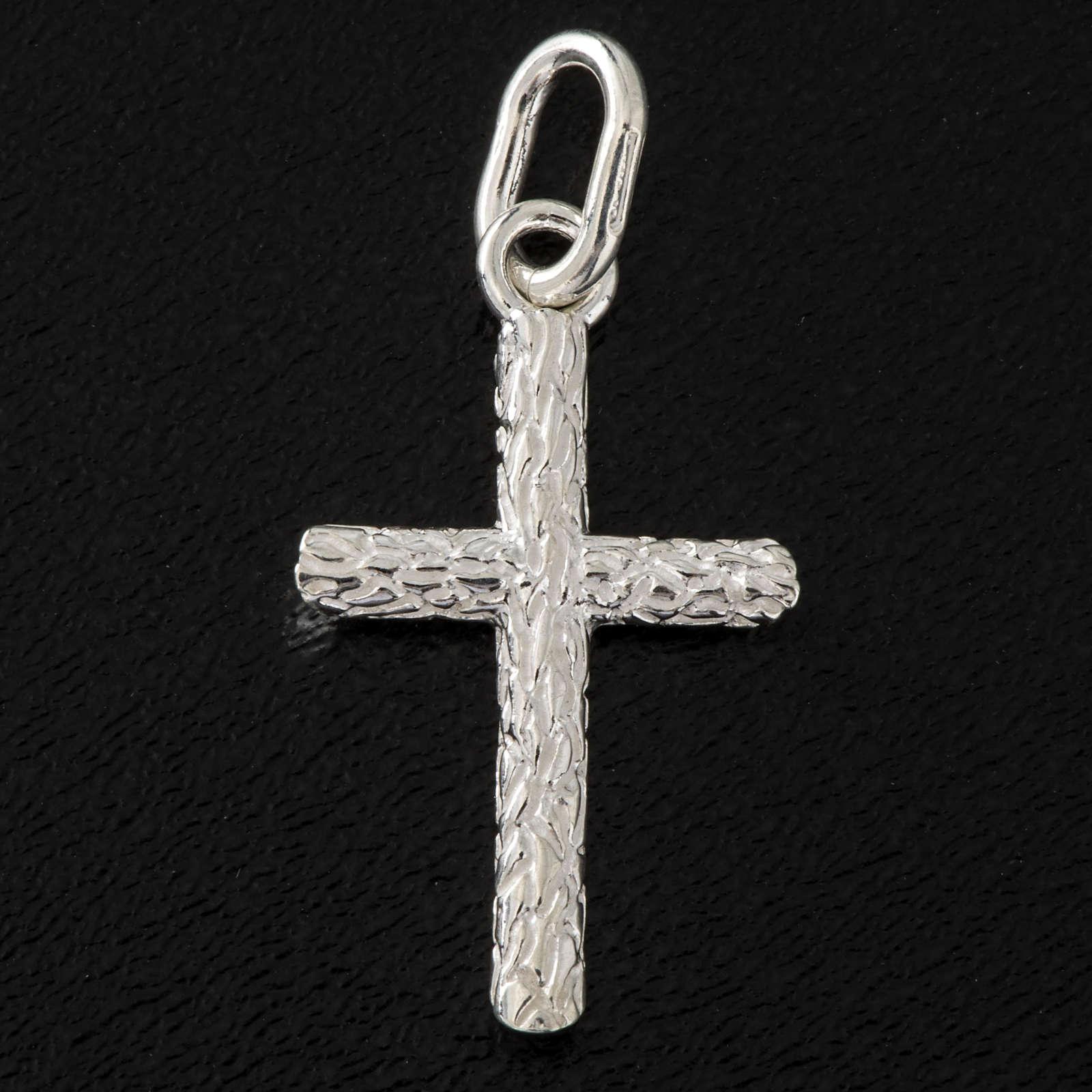 Croce lavorata argento 925 cm 2,5 4