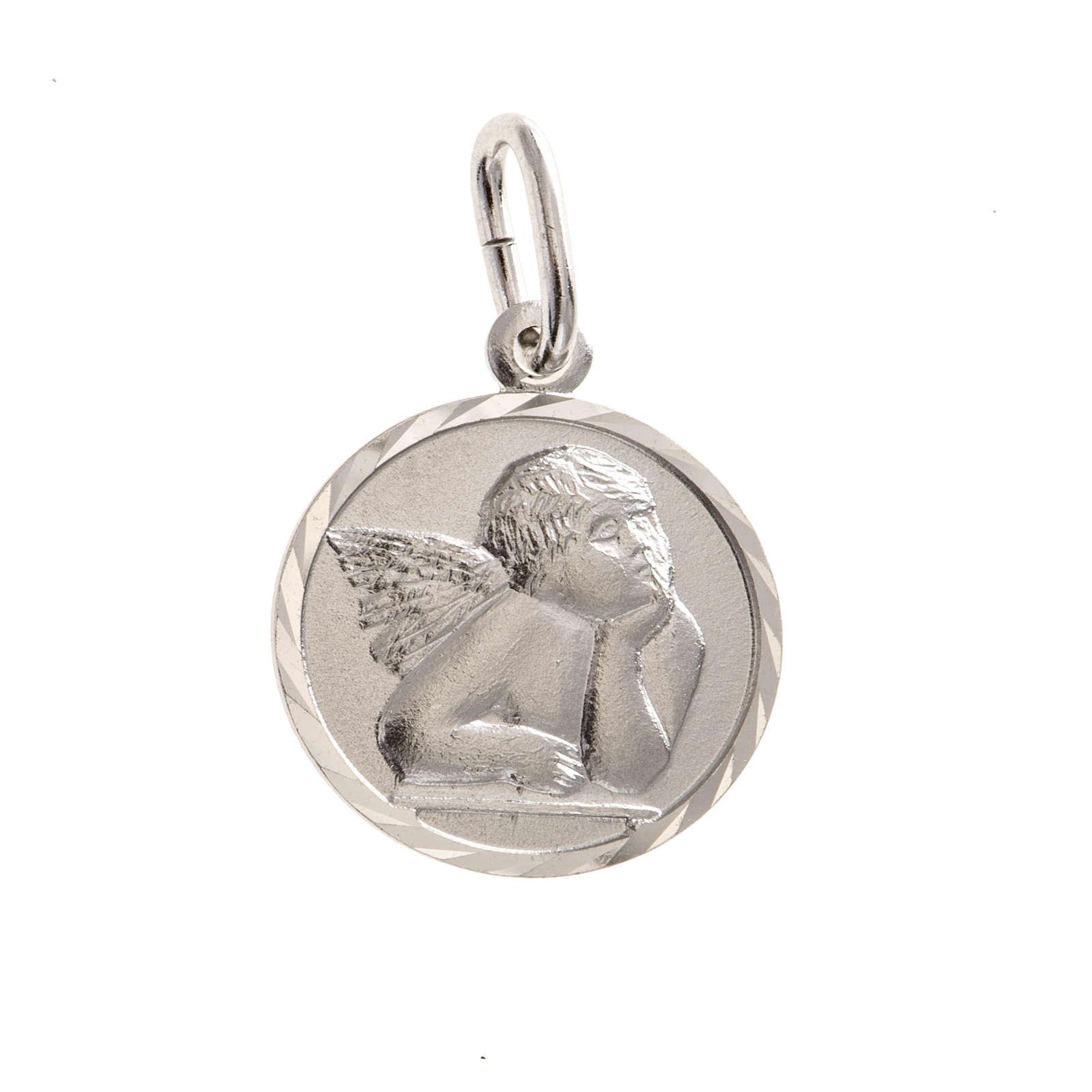 Medaglia argento 925 angelo 1,5 cm 4