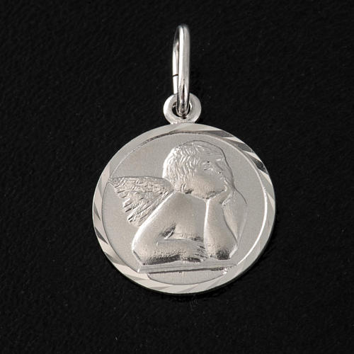 Medaglia argento 925 angelo 1,5 cm 2