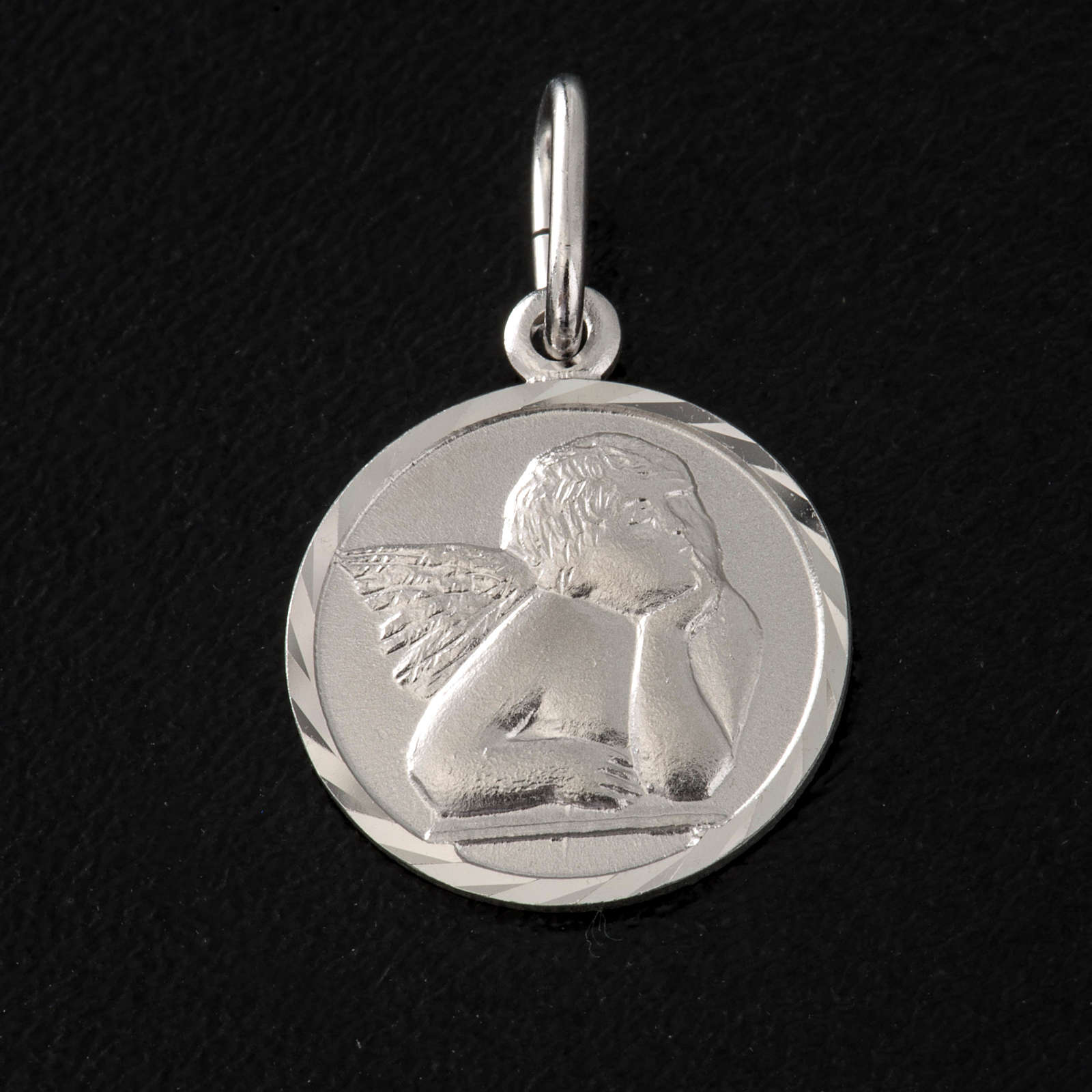 Medal with Angel, sterling silver, 1,5cm 4