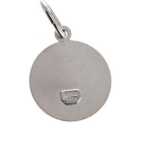 Medal Our Lady of Sorrows, round, sterling silver, 1,5cm s2