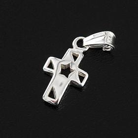 Croce con stella arg. 925, h 1,5 cm s3