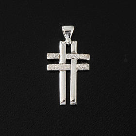 Krzyżyk podwójny srebro 925 s2