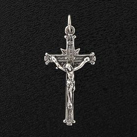 Pendant cross in satin sterling silver 3,5cm s2