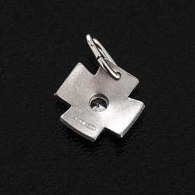 Croix argent 925 avec zircon 1.5 cm s3