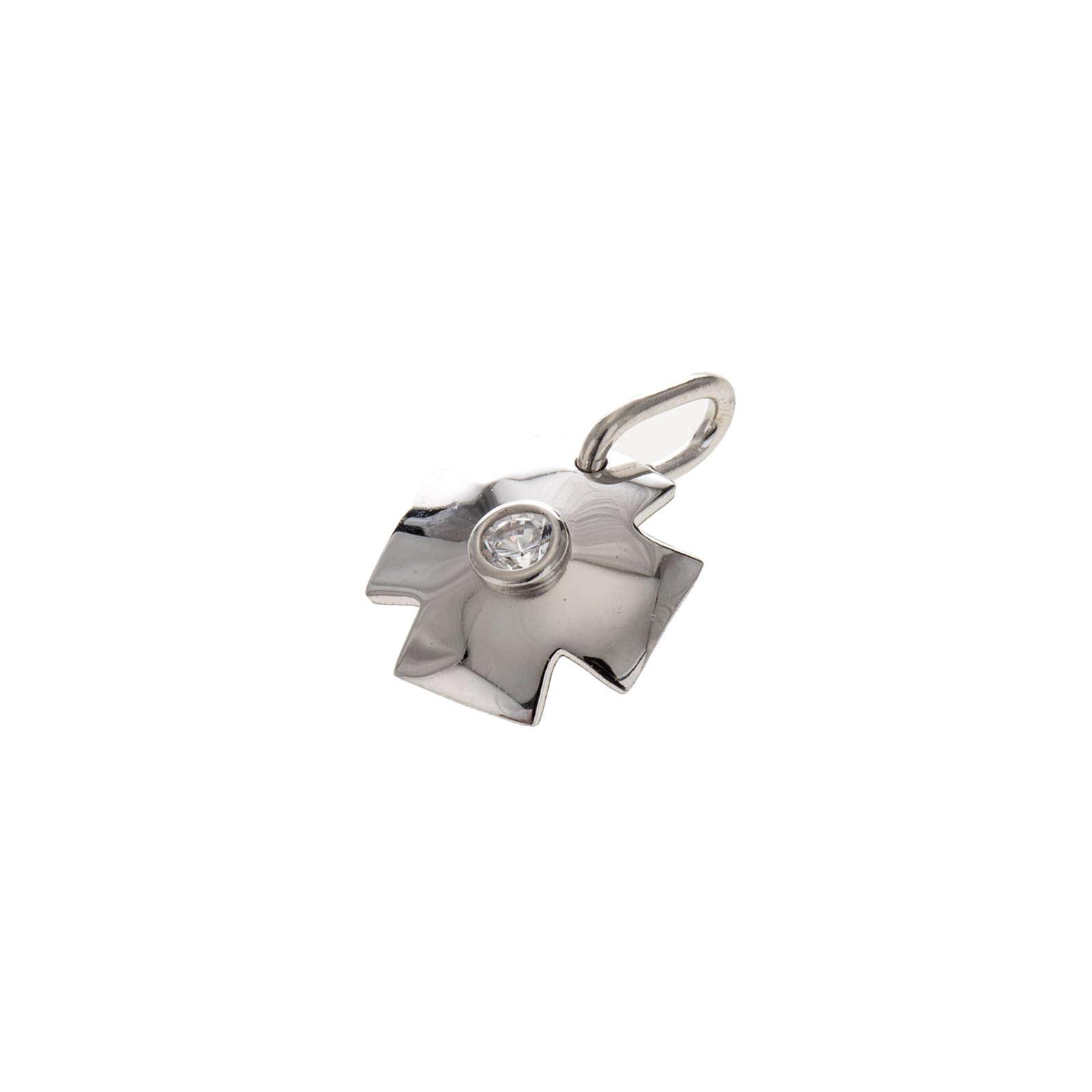 Croce argento 925 con zircone cm 1,5 4