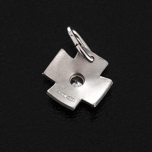 Croce argento 925 con zircone cm 1,5 3