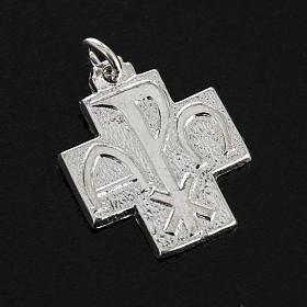 Croce argento 925 alfa omega 2 cm s2