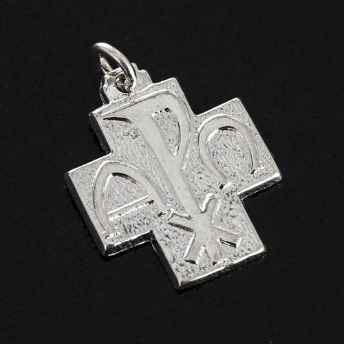 Croce argento 925 alfa omega 2 cm 2