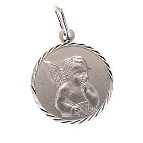 Medaglia Angelo argento 925 tonda cm 2 s1