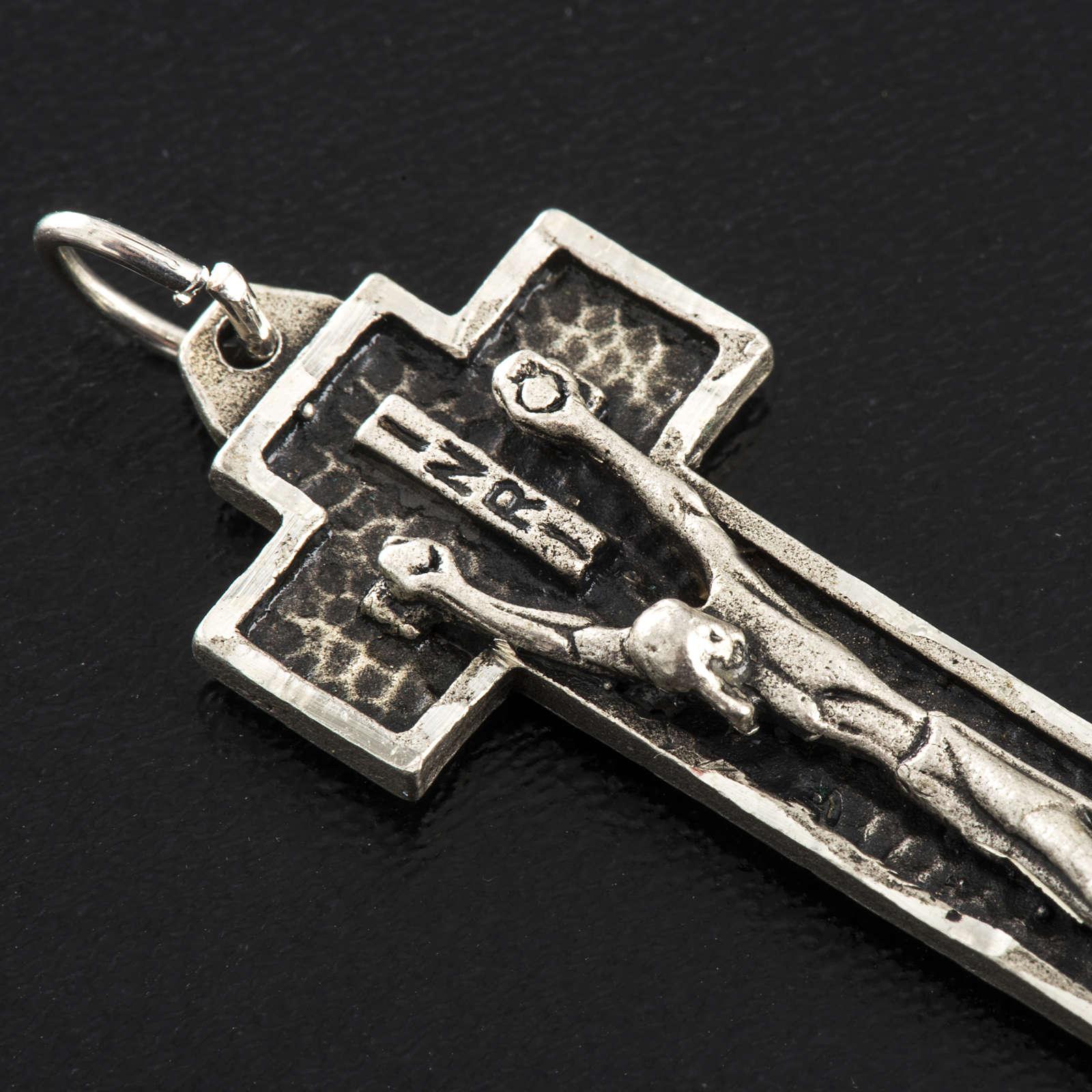 Pendant crucifix in sterling silver 4cm 4