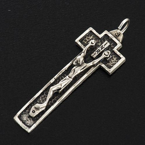 Croix argent 925 fraisé 4 cm 2
