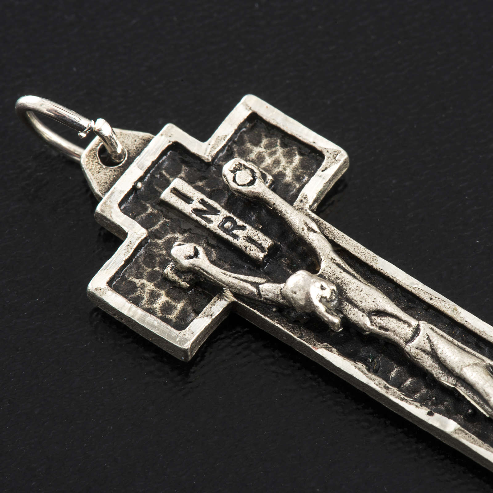 Krzyżyk srebro 925 frezowane h 4 cm 4