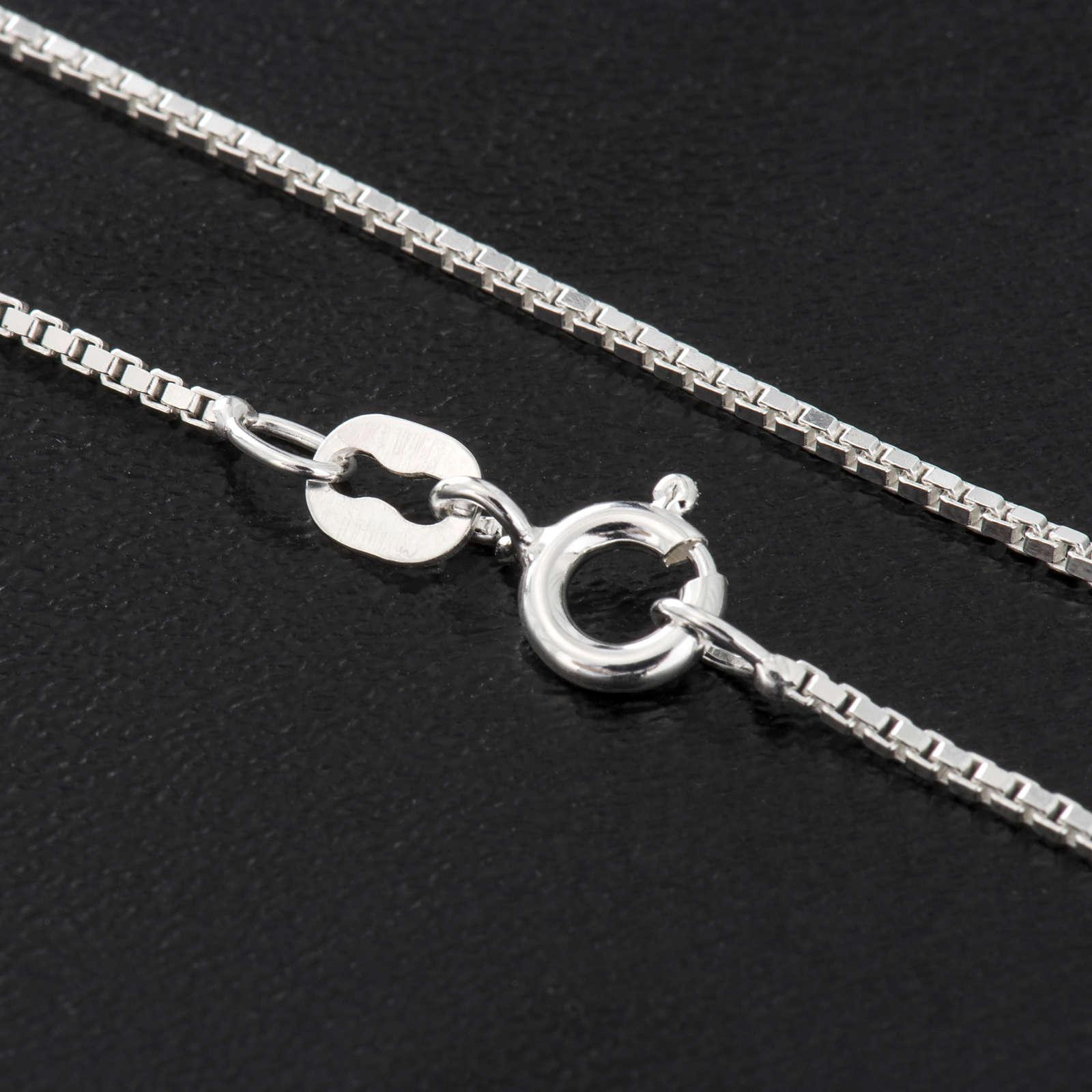 Venetische Halskette rhodiert Silber 925, 60 cm lang 4