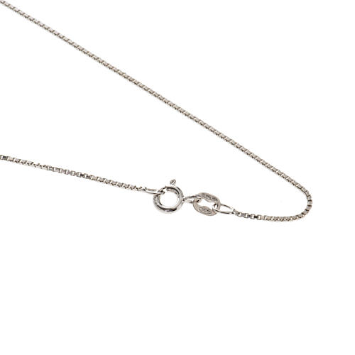 Venetian chain in rhodium-plated sterling silver 60cm 1
