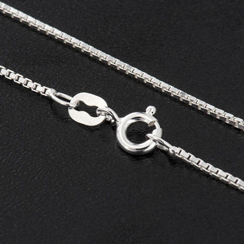 Venetian chain in rhodium-plated sterling silver 60cm 2