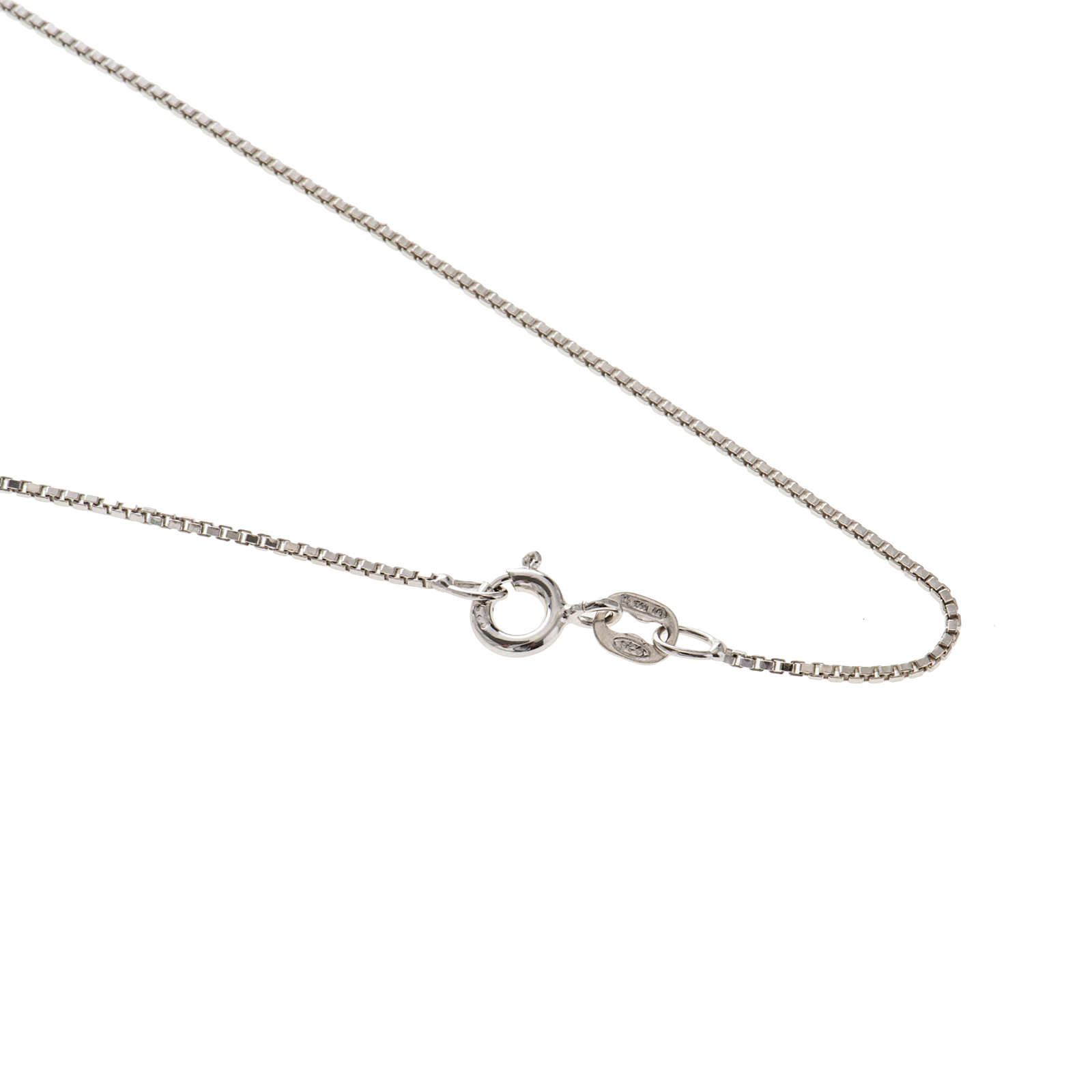 Venetian chain in rhodium-plated sterling silver 60cm 4