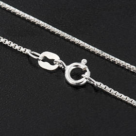 Venetian chain in rhodium-plated sterling silver 60cm s2