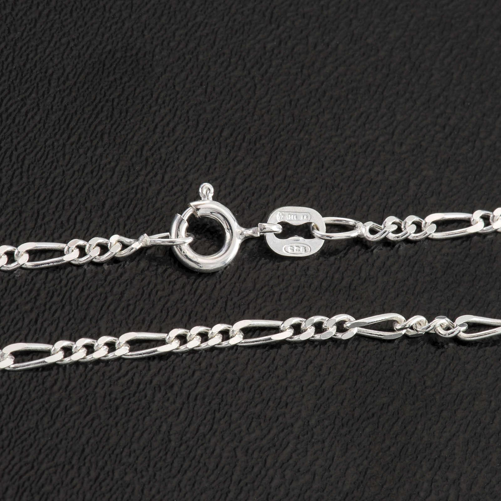Cadena figaro de plata 925, 50cm 4