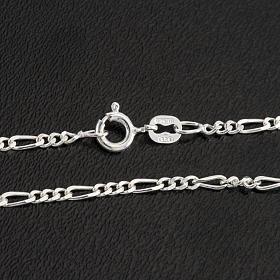 Cadena figaro de plata 925, 50cm s2