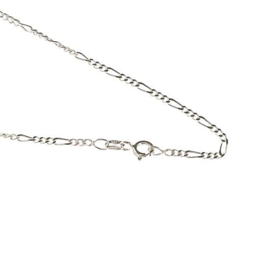 Cadena figaro de plata 925, 50cm 1