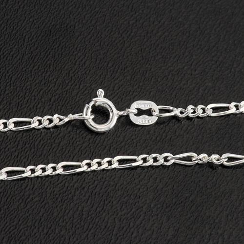 Cadena figaro de plata 925, 50cm 2