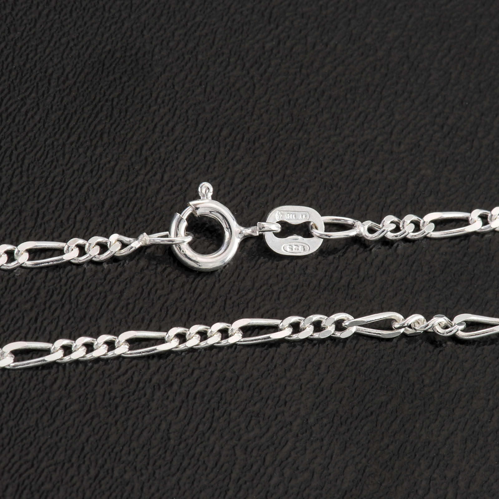 Figaro chain necklace in sterling silver 50cm 4