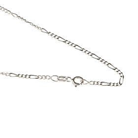 Figaro chain necklace in sterling silver 50cm s1