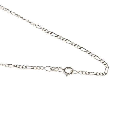 Figaro chain necklace in sterling silver 50cm 1