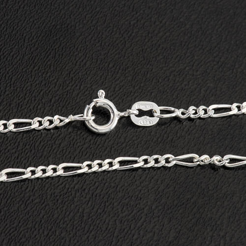 Figaro chain necklace in sterling silver 50cm 2