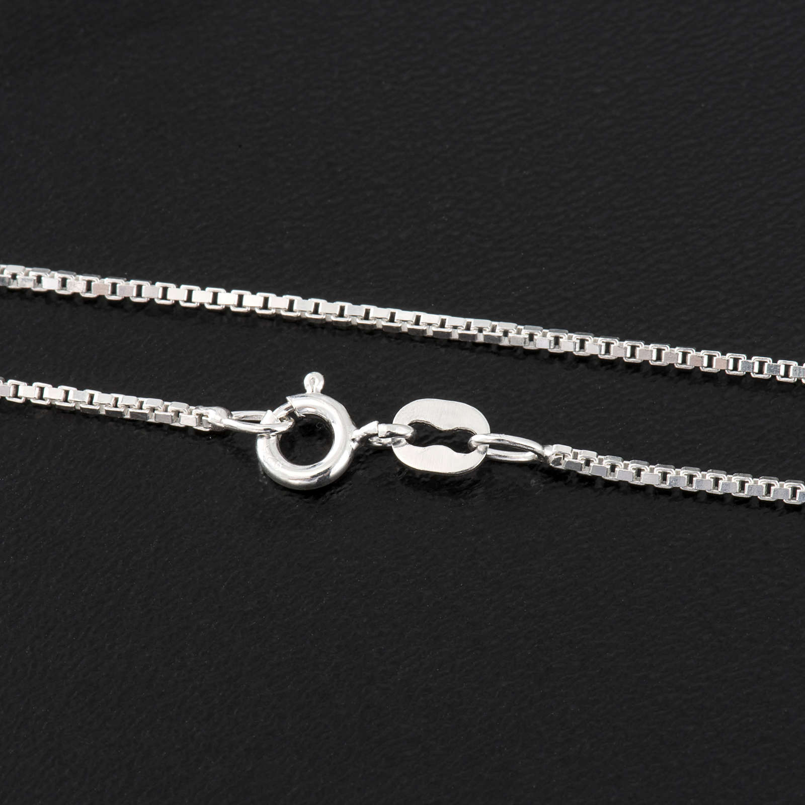 Venetian chain in rhodium-plated sterling silver 40cm 4