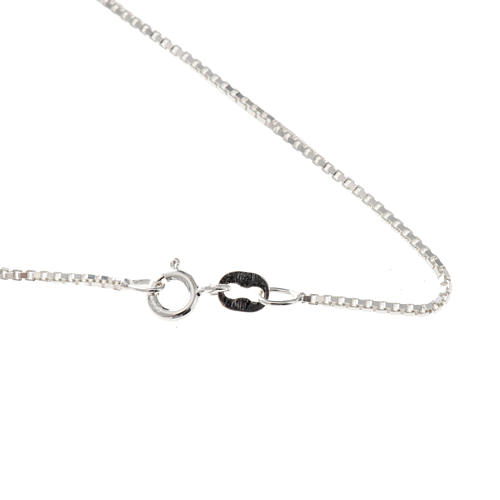 Venetian chain in rhodium-plated sterling silver 40cm 1