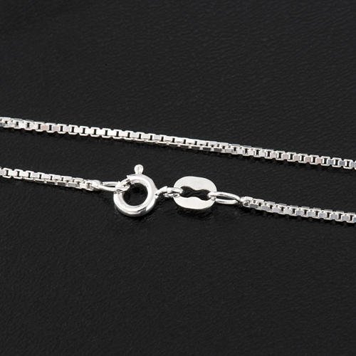Venetian chain in rhodium-plated sterling silver 40cm 2