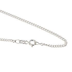 Grumetta chain in sterling silver 60cm s1