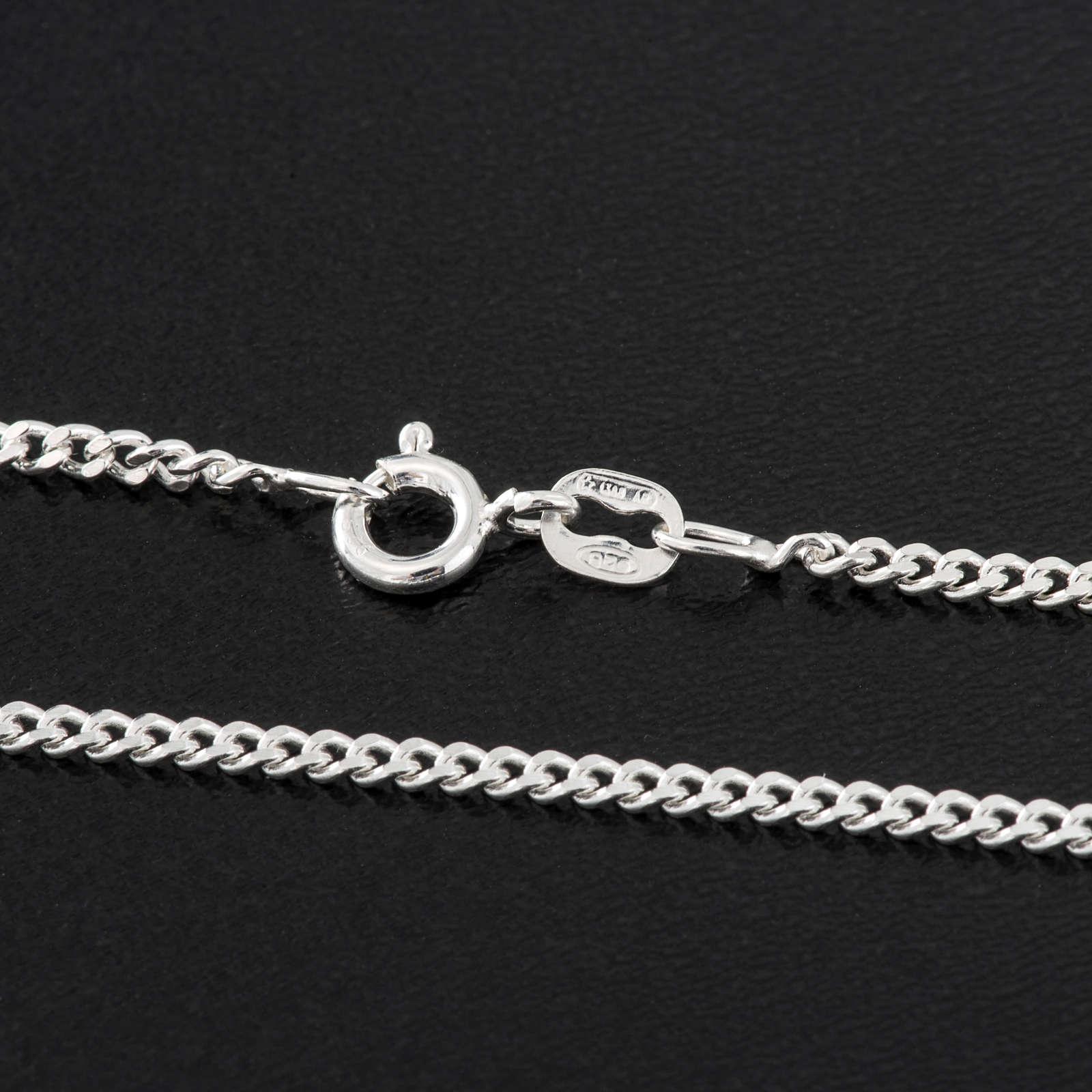 Corrente Groumett prata 925 comprimento 60 cm 4