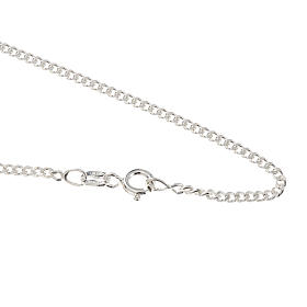 Pendants, crosses and pins: Grumetta chain in sterling silver 60cm