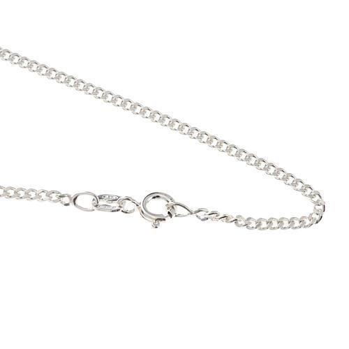 Grumetta chain in sterling silver 60cm 1
