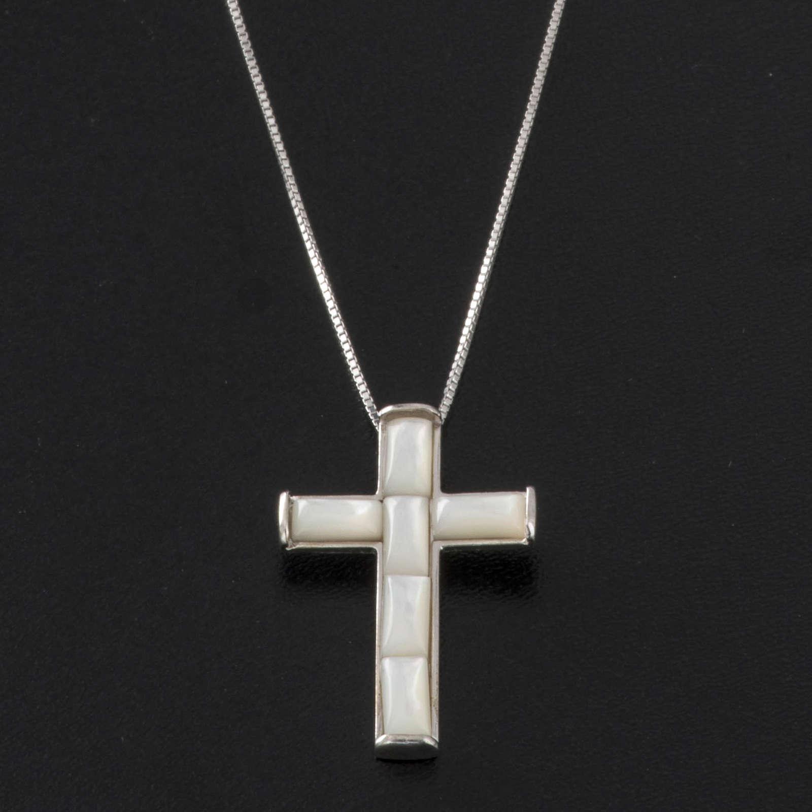 Cruz y cadena  de plata 925 4