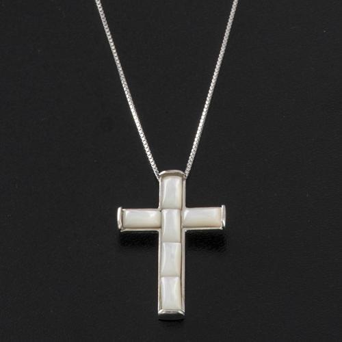 Cruz y cadena  de plata 925 2