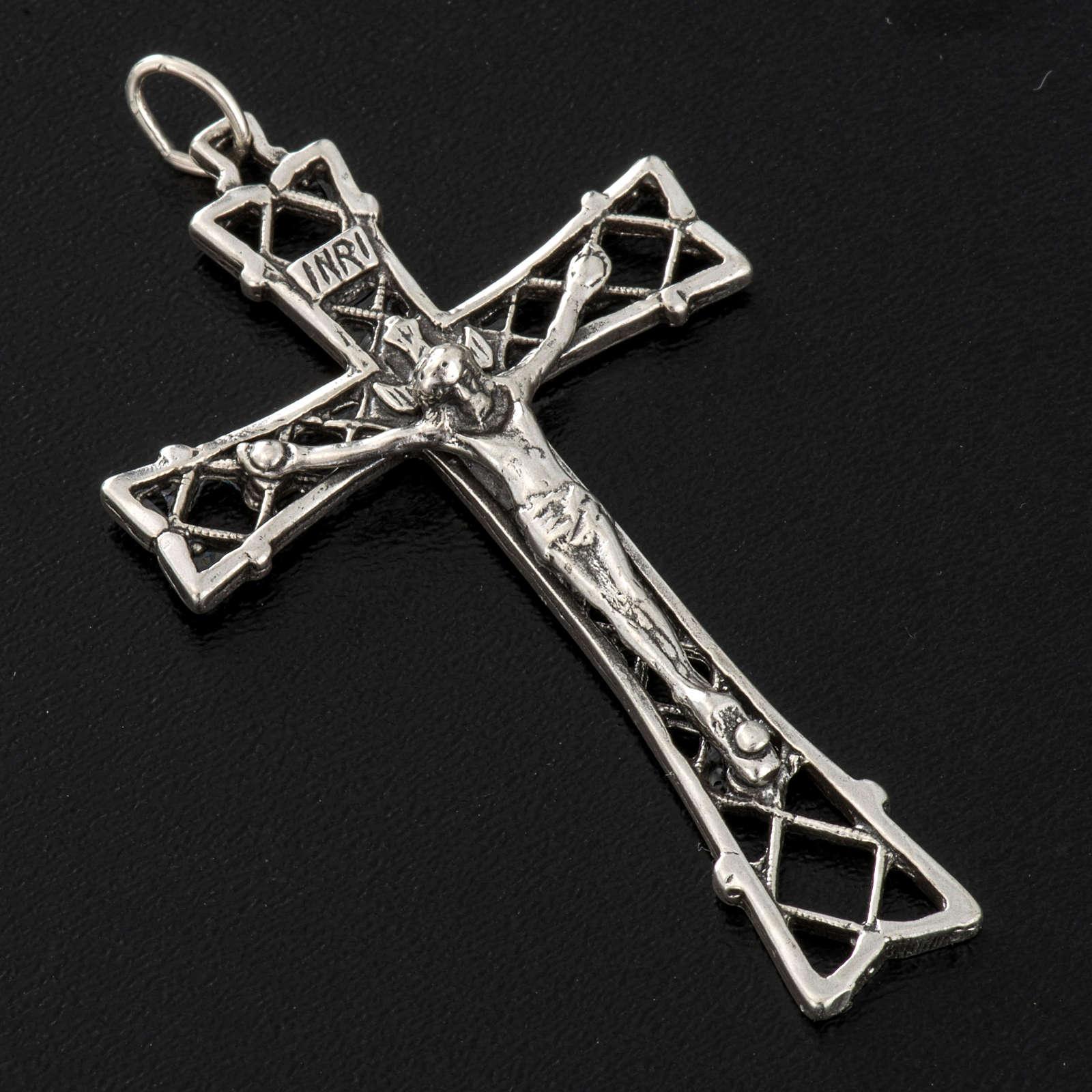 Croce argento 925 traforato cm 5,5 4