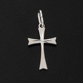 Cruz de plata 925 satinado de 2cm de alto s2