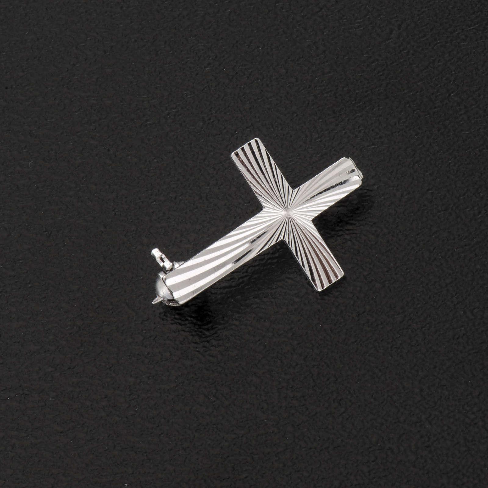 Cruz clero de plata 925 de 2cm 4