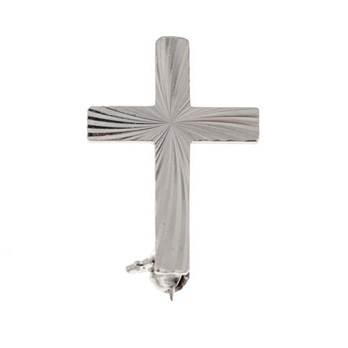 Croce clergy distintivo argento 925 cm2 1