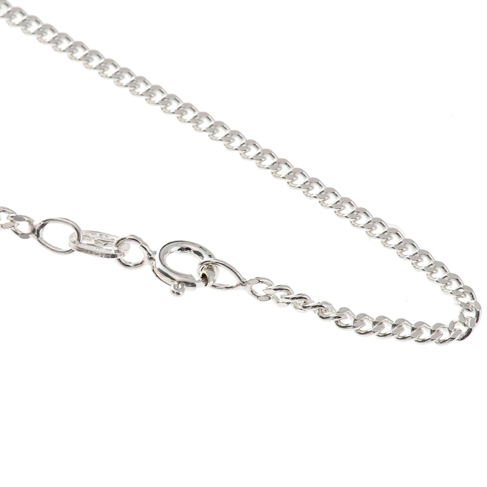 Catena grumetta argento 925 lunghezza 50 cm 4