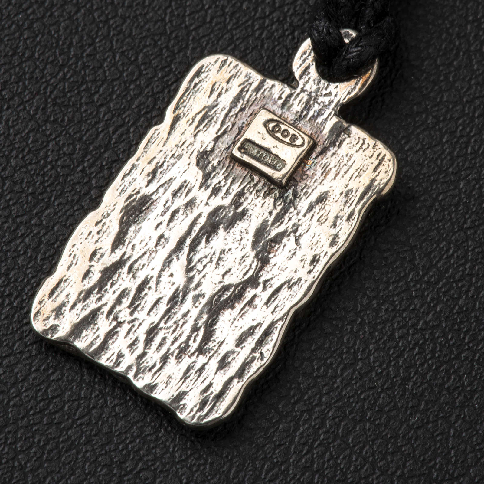 Medal of Our Lady of Lourdes in 800 silver 4