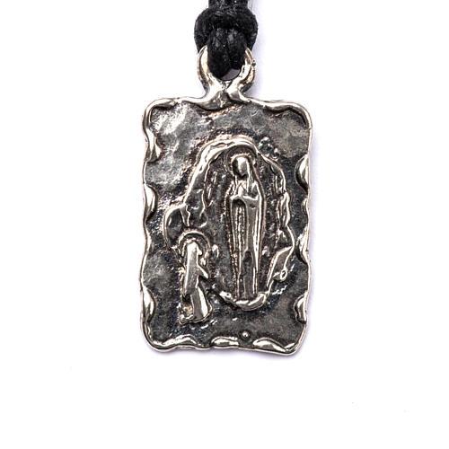 Medaglietta di Lourdes Argento 800 1