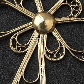 Croce in filigrana Argento 800 bagno in oro s3