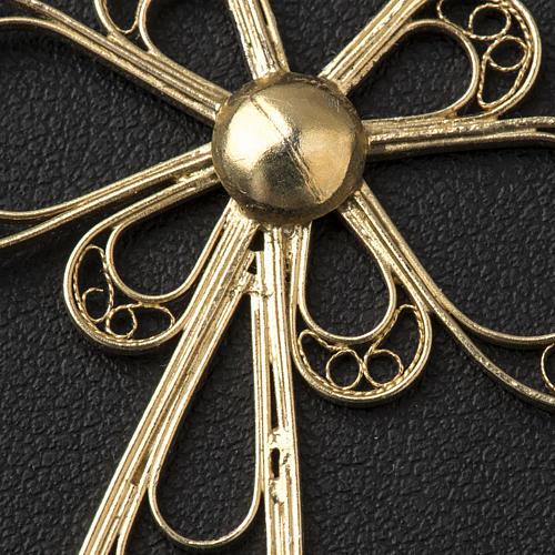 Croce in filigrana Argento 800 bagno in oro 3