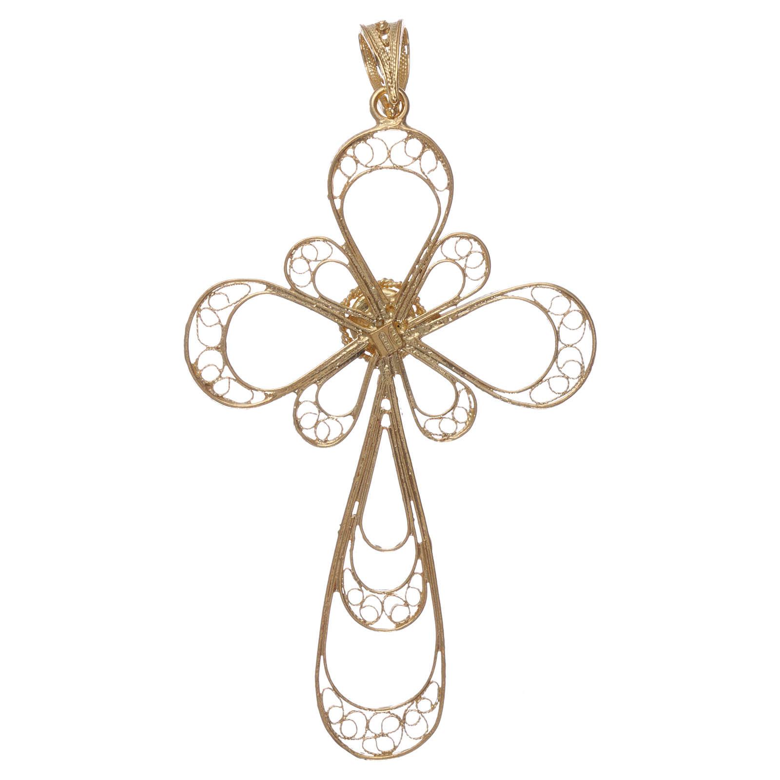 Croce argento 800 con Corallo 4